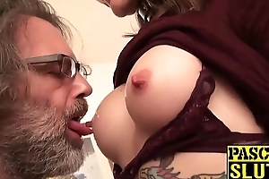 Tattoed chick Adreena Winters takes a unchanging ride on big dick
