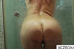 Lustful shower with hawt MILF