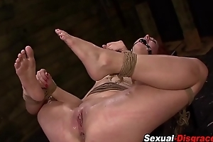Bound flunkey anally fucked
