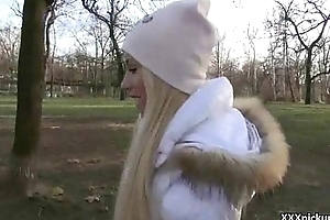 Hawt Naughty Czech Girl Suck Cock Added to Obtain Screwed For Money In Public 13