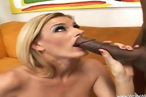 Skinny Blonde MILF Tries Some BBC