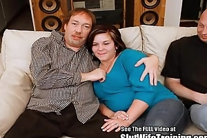 Retrograde timorous wife Janie gets trained to please a federate