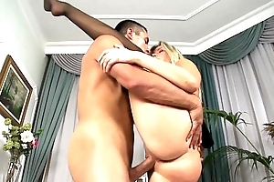 Cherry fucked in thigh high stockings and heels
