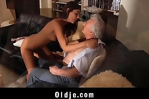 Spicy young pussy for decrepit old bloke