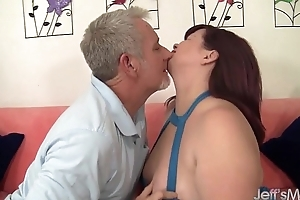 Redhead plumper Marci Diamond hardcore intercourse