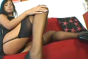 Alyssia In Black Stockings