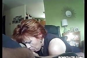 Mature gives nut together with receives doggystyled