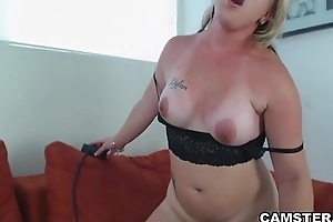 Solo girl riding the sybian like a cowgirl on max before b before