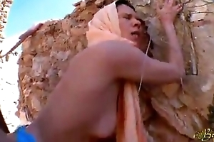 sexy arab girl used by a soldier thoroughly