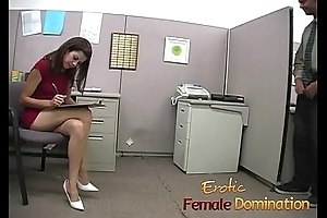 Slut makes a co-worker cum using only will not hear of sexy feet-6