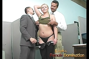 Slutty blonde takes a cumshot at her first make obsolete at work-6